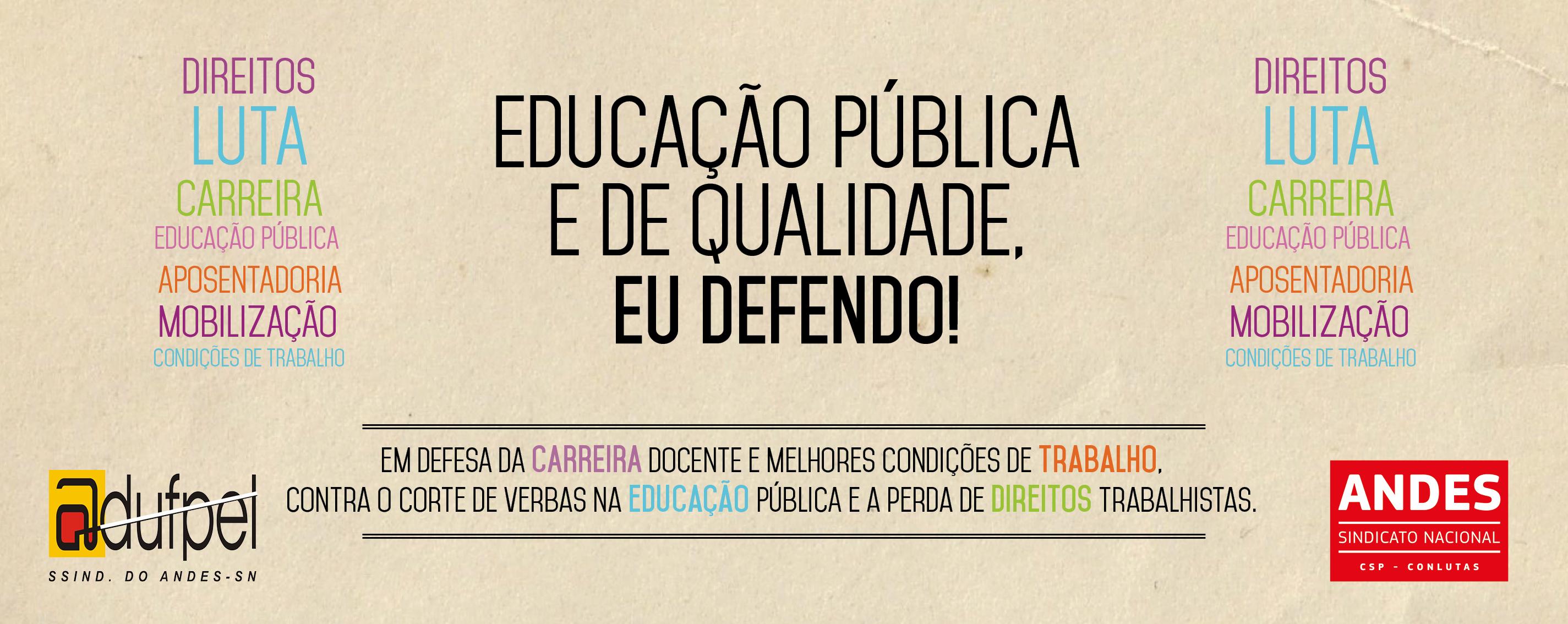 ADUFPel em defesa do ensino público